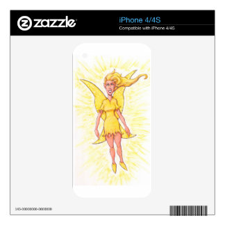 Yellow Fairy Skins For The iPhone 4