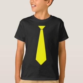 Yellow Fake Tie T-Shirt