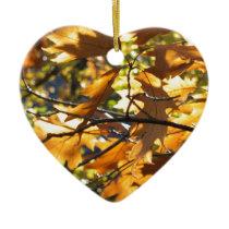 Yellow Fall Ceramic Ornament