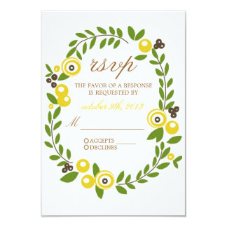 Yellow Fall Floral RSVP Cards