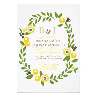 Yellow Fall Floral Wedding Invitations
