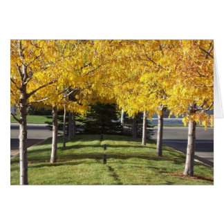 Yellow Fall Leaves Card