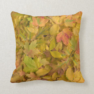 Yellow Fall Leaves Pillow