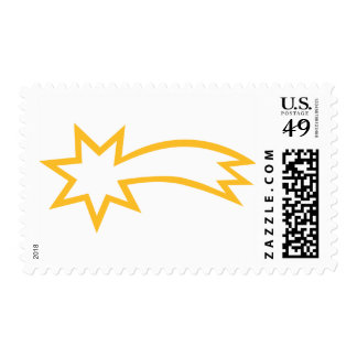 Yellow falling shooting star postage
