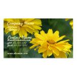 Yellow False Sunflower Business Card