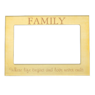 yellow family quote magnetic photo frame