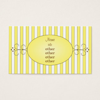 Yellow Fancy Cake Business Card