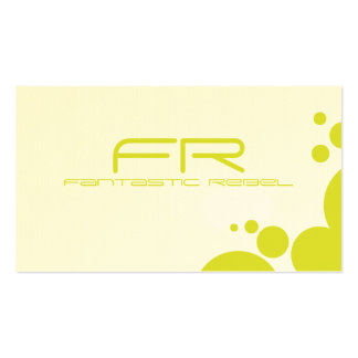 Yellow Fantastic Rebel Business Cards