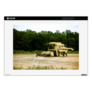 "Yellow Farm Combine Zazzle Skin 15"" Laptop Decals"