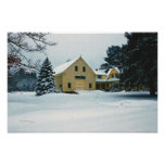 Yellow Farm in Winter 16 x 24 inches Print