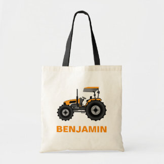 Yellow Farm Tractor Kids Tote Bag