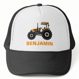 Yellow Farm Tractor Kids Trucker Hat