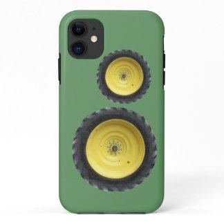 Yellow Farm Tractor Wheels iPhone 11 Case
