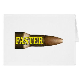 yellow fast bullet card