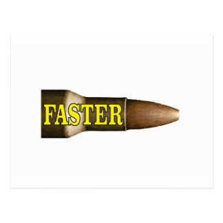yellow fast bullet postcard
