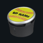 """Yellow Fastpitch Softball Bluetooth NFC Speaker<br><div class=""""desc"""">The Custom Yellow Fastpitch Softball Bluetooth NFC Speaker: Add your own name in the text box to create an awesome customized softball speaker. Would make a special gift for any softball player, coach or fan. Numbers can also be added in the text box. Let me know if you need any...</div>"""