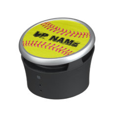 Yellow Fastpitch Softball Bluetooth Nfc Speaker at Zazzle