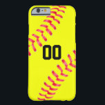 "Yellow Fastpitch Softball Custom iPhone Case Cover<br><div class=""desc"">The Yellow Fastpitch Softball Custom iPhone Case Cover: Create a special phone case for any softball player,  coach or fan. To personalize the case,  type any number (or letters) into the custom text box.</div>"