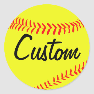 Yellow Fastpitch Softball Custom Stickers
