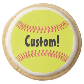 Yellow Fastpitch Softball Shortbread Cookies