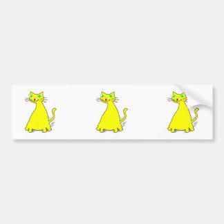 Yellow Fat Cat Bumper Stickers