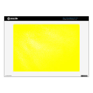 Yellow Faux Leather Look Acer Chromebook Skin
