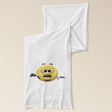 Yellow fear emoticon or smiley scarf