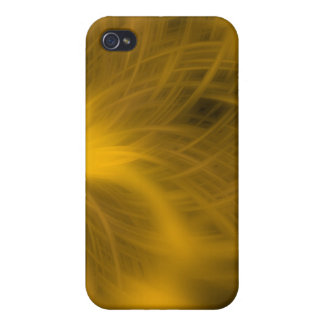 yellow feathery texture i iPhone 4 cover