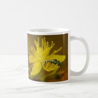 Yellow Female Bee Collecting Pollen Mug