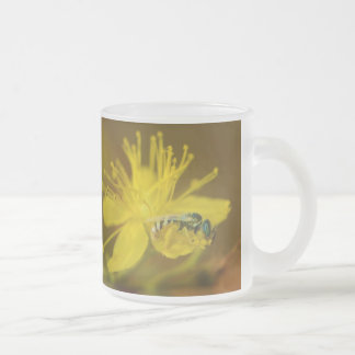 Yellow Female Bee Collecting Pollen Mugs