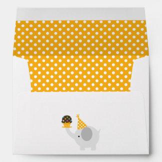 Yellow Festive Birthday Elephant Envelope