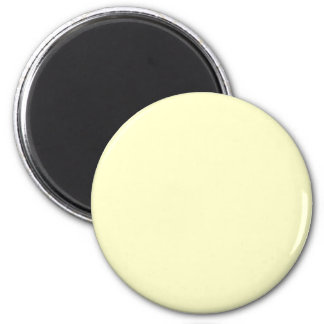 Yellow #FFFFCC Solid Color 2 Inch Round Magnet