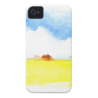 Yellow field Case-Mate iPhone 4 case