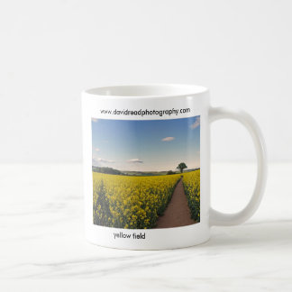 yellow field classic white coffee mug