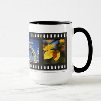 Yellow filmstrip mug