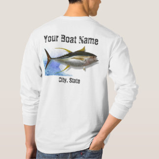 Yellow fin Tuna Custom Boat Name Fishing Shirt