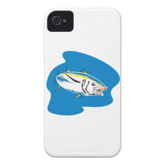 Yellow Fin Tuna Fish Retro iPhone 4 Covers