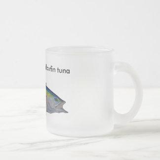 yellow fin tuna frosted glass coffee mug