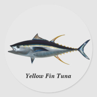 Yellow Fin Tuna round stick Classic Round Sticker
