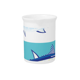Yellow fin Tuna Vector stylized Beverage Pitcher