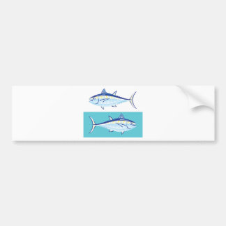 Yellow fin Tuna Vector stylized Bumper Sticker