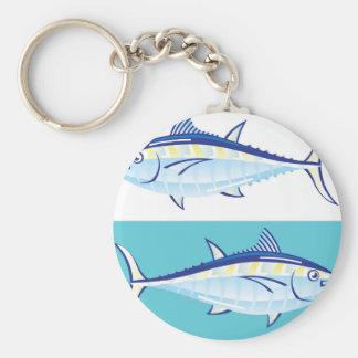 Yellow fin Tuna Vector stylized Keychain