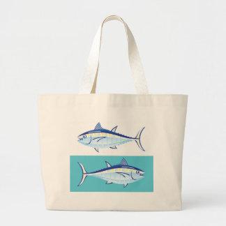 Yellow fin Tuna Vector stylized Large Tote Bag
