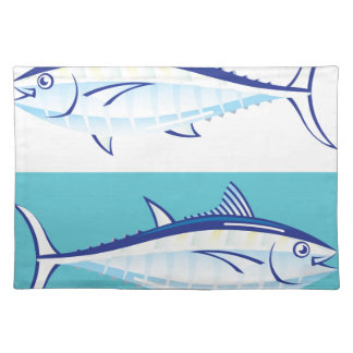 Yellow fin Tuna Vector stylized Placemat