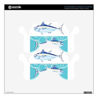 Yellow fin Tuna Vector stylized PS3 Controller Decals