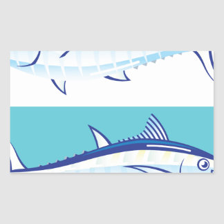 Yellow fin Tuna Vector stylized Rectangular Sticker