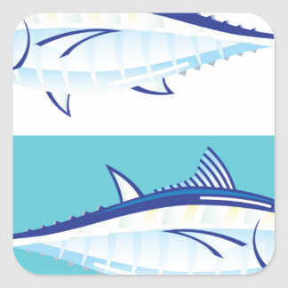 Yellow fin Tuna Vector stylized Square Sticker