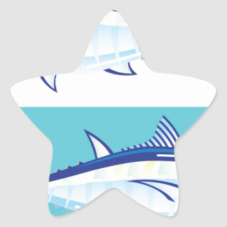 Yellow fin Tuna Vector stylized Star Sticker