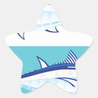 Yellow fin Tuna Vector stylized Star Sticker