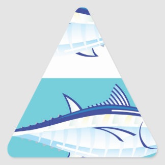 Yellow fin Tuna Vector stylized Triangle Sticker